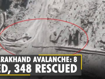 8 dead, 348 rescued after an avalanche hit Indian state of Uttarakhand | Glacier Burst |English News