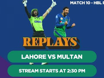 #HBLPSLReplays | Lahore Qalandars vs Multan Sultans | Match 10 | HBL PSL 4
