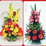 stylish collection of ikebana Japanese Bouquet Home decoration Fresh flower arrangements