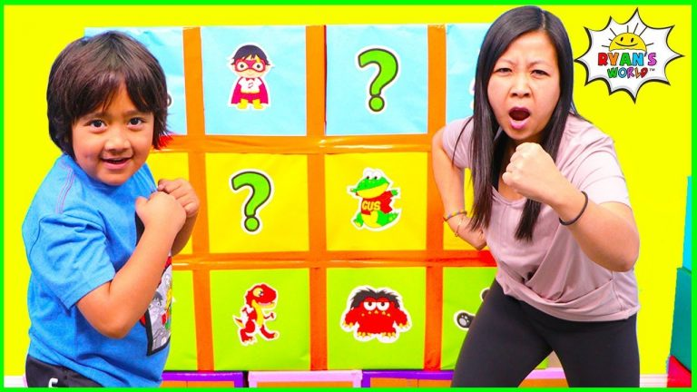 Smash Box Surprise Minute to Win it games with Ryan's World!!! 1