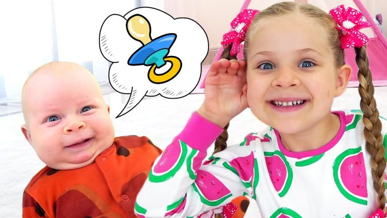 Diana Pretend Play with Baby Oliver | Funny stories for kids 1
