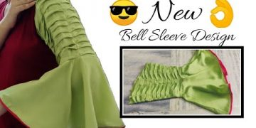 Unique Bell Sleeves || Frill Sleeve Design Easy Cutting and Stitching @RR Fashion Point 13