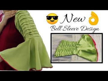 Unique Bell Sleeves || Frill Sleeve Design Easy Cutting and Stitching @RR Fashion Point 6