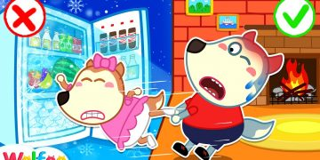 No No, Lucy! Play Safe with Refrigerator - Learn Safety Tips for Kids | Wolfoo Channel Kids Cartoon 9