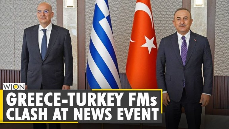 Greece, Turkey Foreign Ministers clash during a joint press conference   World English News   WION