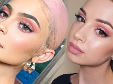 KYLIE JENNER Inspired Makeup Tutorial | Pink Smokey Eye