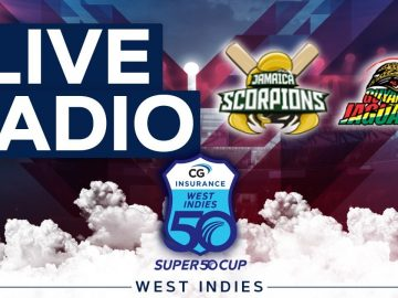 🔴LIVE RADIO Jamaica vs Guyana | CG Insurance Super50 Cup 3