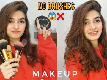 NO BRUSHES😱❌ || Makeup Without Brushes - Possible??? 1