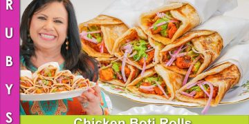 Chicken Boti Paratha Rolls Ramadan Iftari 2021 Recipe in Urdu Hindi - RKK
