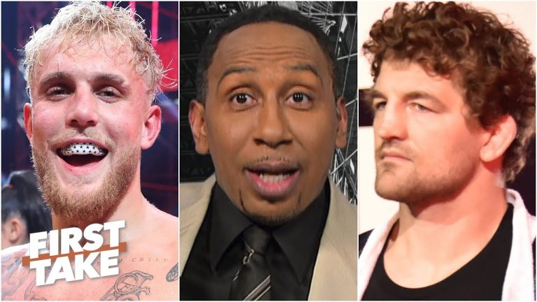 Stephen A. reacts to Ben Askren getting KO'd by Jake Paul   First Take