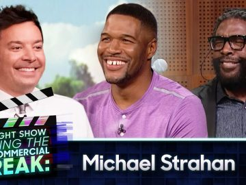 Michael Strahan Squashes His Beef with The Roots During Commercial Break | The Tonight Show