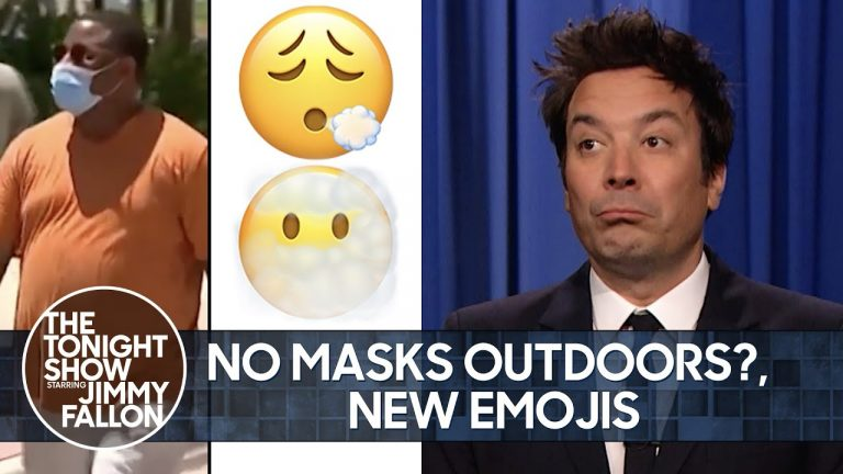 CDC Relaxes Mask Guidelines, Apple Debuts New Emojis   The Tonight Show Starring Jimmy Fallon