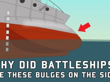 Why did Battleships have these Bulges on the Side?