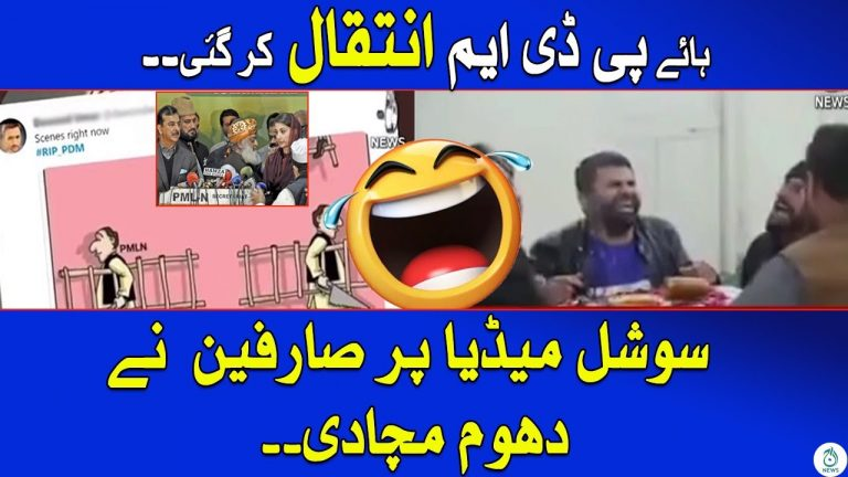 PDM Memes took special attention on Social Media Platforms   Aaj News Special Report