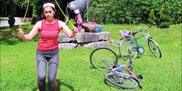 Biking in the forest and to Tierpark Allensbach Bodensee Germany|Spring 2021