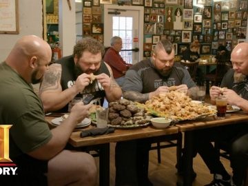 The Strongest Man in History: Chicken Wing Eating Contest | Exclusive | History 2