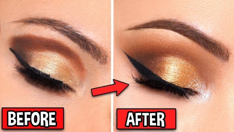 HOW TO FIX BAD MAKEUP - GLAM GOLD SMOKEY EYE ( Part 2 )