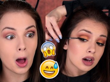 FULL FACE USING ONLY THE OPPOSITE HAND Makeup Challenge