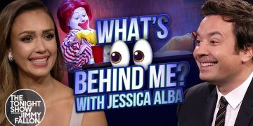 What's Behind Me? with Jessica Alba   The Tonight Show Starring Jimmy Fallon