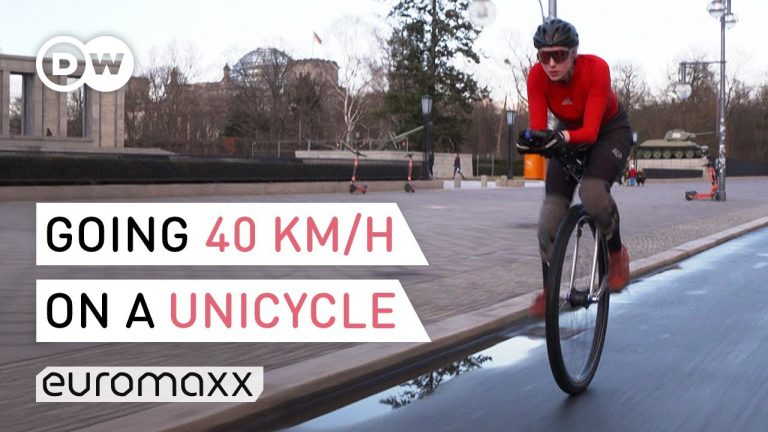 One Of The Fastest Persons On A Unicycle - World Record Holder Jana Tenambergen
