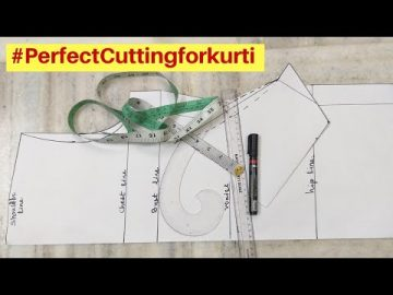 How to Cut Perfect Kurti / Kameez (drafting) with Detailing 5