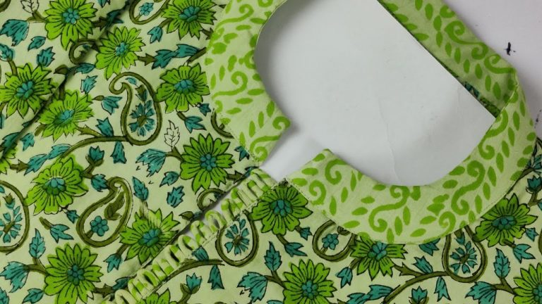 Perfect Round Collar Cutting and Stitching @Roshni Sewing House 1