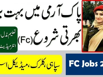 New jobs in Pakistan Army fc , Fc Jobs Apply now