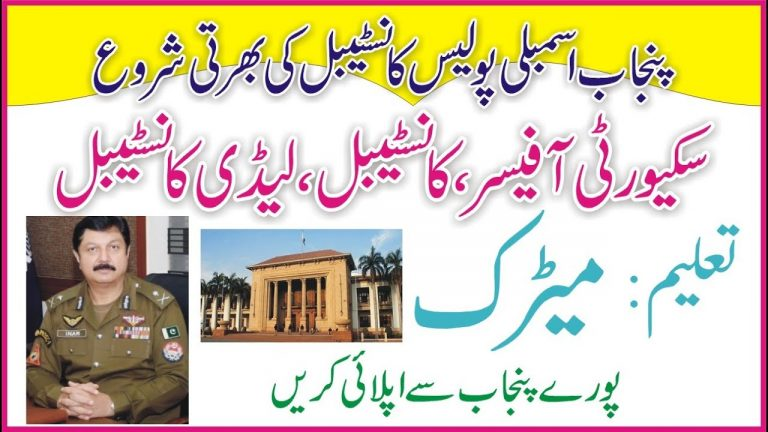 Police Constable Jobs 2021   How To Get Punjab Assembly Jobs   New Govt Jobs 2021   Say Job City