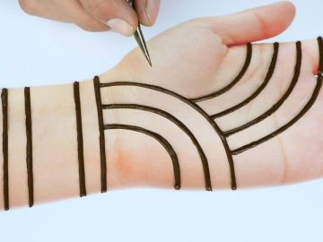 Beautiful Easy trick mehndi design for front hands - Simple Henna designs - Just Mehndi Designs 12
