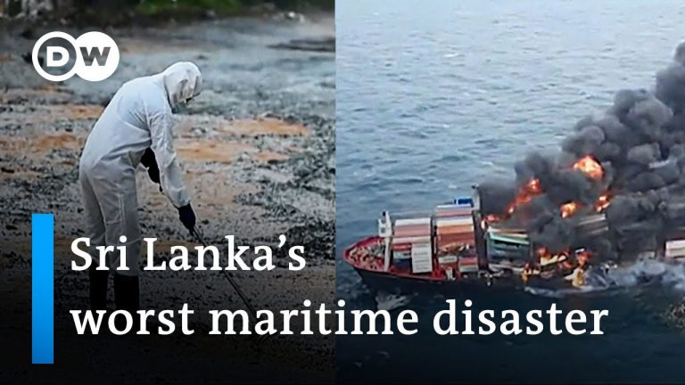 Sinking chemicals cargo ship turns into environmental disaster for Sri Lanka   DW News