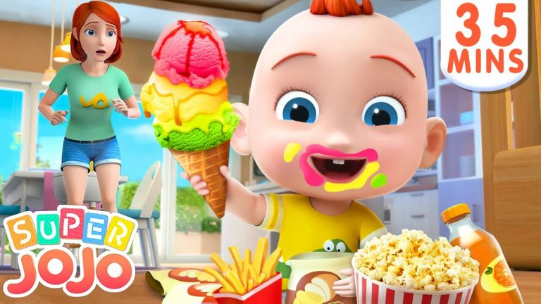 No No Snacks Song | Yes Yes Stay Healthy + More Nursery Rhymes & Kids Songs - Super JoJo 1