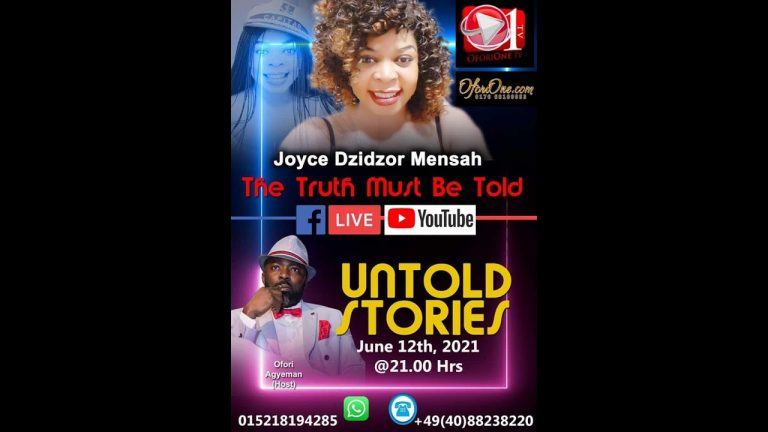 THE TRUTH MUST BE TOLD LIVE WITH JOYCE DZIDZOR - OFORIONE TV
