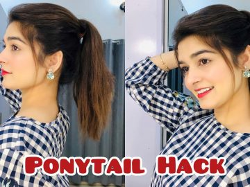 Ponytail Hack For Straight Hair || IT Works 4