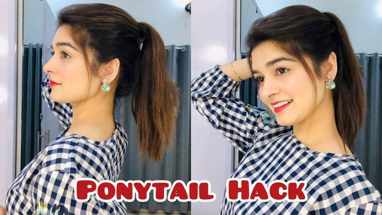 Ponytail Hack For Straight Hair || IT Works 1