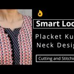 Very Easy Placket Kurti Front Neck Design || Neck Design Cutting and Stitching 4