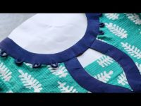 Easy Boat Neck Cutting and Stitching || Neck Design 7