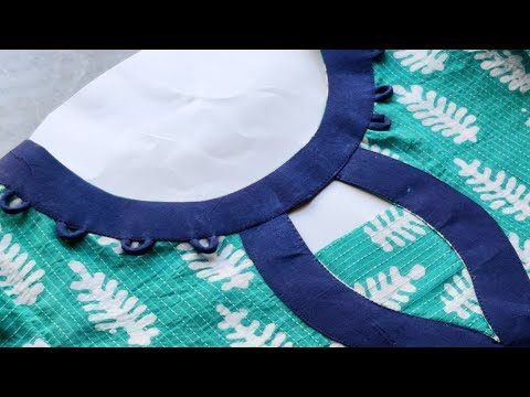 Easy Boat Neck Cutting and Stitching || Neck Design 1
