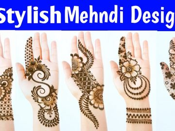 New Latest Stylish Mehndi designs - Most Beautiful Easy Mehendi designs for front hands 7