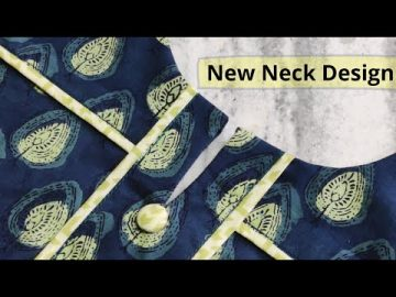 Elegant and Very Easy Front Neck Design For Kurti/Suit Cutting and Stitching @RR Fashion Point 23