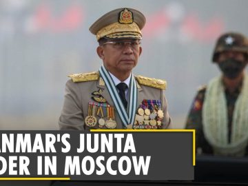 Myanmar's junta leader arrives in Moscow for security conference | Latest World News | English News