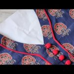 Easy Kurti Front Neck Design with Button Placket Cutting and Stitching | Neck Design 3