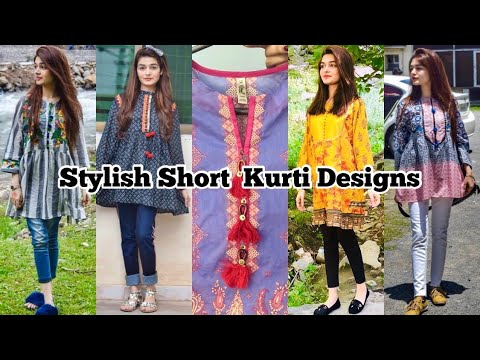Stylish Short Kurti Designs For Summers || Fusion Tops 1