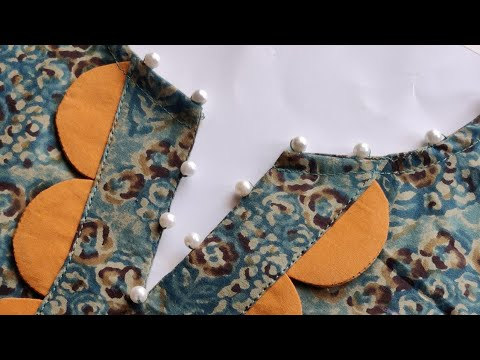 Easy V Placket Neck Design Cutting and Stitching || Neck Design For Kurti/Suit 1