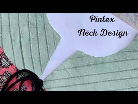 Most Trendy Pintuck Neck Design for Kurti/Suit || neck design cutting and stitching 1