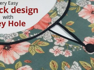 Easy Boat Neck Design With Keyhole Cutting and Stitching / Neck Design 4