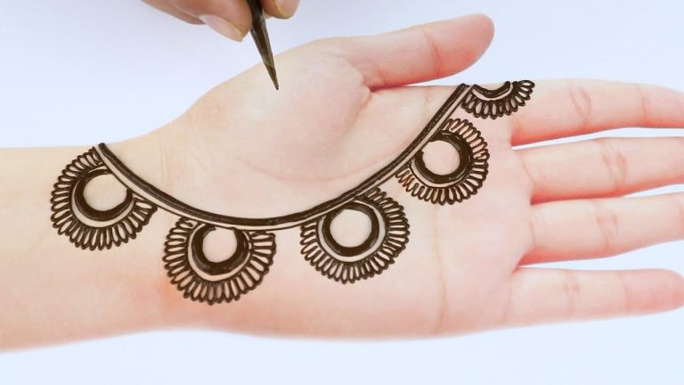 New latest easy mehndi design for hands simple and easy Mehandi ka design 2021 just mehndi 1