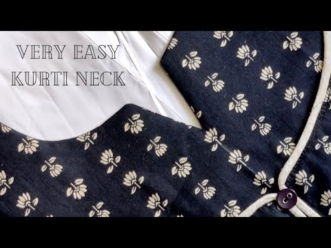 EASY KURTI FRONT NECK DESIGN CUTTING AND STITCHING / neck design 1