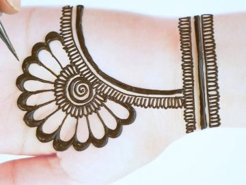 Latest beautiful,stylish and easy mehendi designs for front hands/Simple Henna designs 2020 17