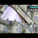 Latest V Collar Neck Design with Placket Easy Cutting and Stitching @RR Fashion Point 3