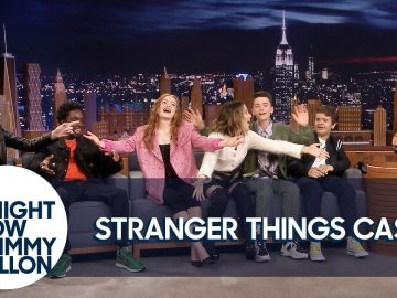 """The Stranger Things Cast Teaches Jimmy the """"Chicken Noodle Soup"""" Song"""